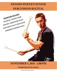 Desmin Peifer's Senior Percussion Recital by Desmin Peifer