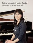 Felicia Lohidajat's Junior Recital