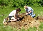 Dr. Heather Wholey's Archaeology Field School, Gordon Natural Area (6) by Gerard Hertel