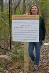 Deer Exclosure/Invasive Plants Demonstration Plots sign, Golden Ram Trail, Gordon Natural Area