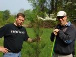 Drs. Greg Turner & Martin Helmke Plant a Pine, Gordon Natural Area (2)