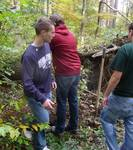 Friars' Society Pulling Invasive Jetbead and Planting Native Trees, Gordon Natural Area (14)