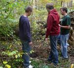 Friars' Society Pulling Invasive Jetbead and Planting Native Trees, Gordon Natural Area (15)