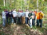 Friars' Society Pulling Invasive Jetbead and Planting Native Trees, Gordon Natural Area (16)