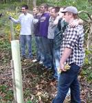 Friars' Society Pulling Invasive Jetbead and Planting Native Trees, Gordon Natural Area (18)