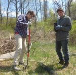 Tree Campus USA/Arbor Day 2015 tree planting, Gordon Natural Area (6)
