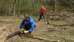 Tree Campus USA/Arbor Day 2015 tree planting, Gordon Natural Area (7)