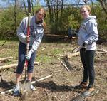 Tree Campus USA/Arbor Day 2015 tree planting, Gordon Natural Area (10)
