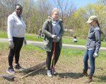 Tree Campus USA/Arbor Day 2015 tree planting, Gordon Natural Area (15)