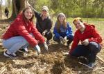 Tree Campus USA/Arbor Day 2015 tree planting, Gordon Natural Area (26)