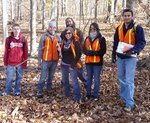 Dr. LeeAnn Srogi's Igneous & Metamorphic Petrology class (ESS 405/505) in the Gordon Natural Area (1) by Gerard Hertel