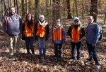 Dr. LeeAnn Srogi's Igneous & Metamorphic Petrology class (ESS 405/505) in the Gordon Natural Area (2)