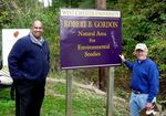 Dr. Gautam Pillay, Associate Vice President in the Office of Sponsored Research, visits the Gordon Natural Area