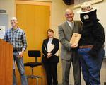 Gordon Fest 2013 - Jason Ryndock, Dr. Srogi, President Weisenstein & Smokey Bear