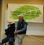Gordon Fest 2013 - Gerry Hertel & Smokey Bear, U.S. Forest Service colleagues