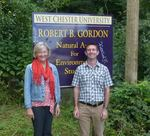Beth Burnham and Bob Daniels of the Brandywine Conservancy visit the Gordon Natural Area