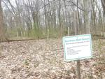 New Sign in the Gordon Natural Area: Goshen Hall Grove