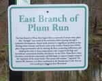New Sign in the Gordon Natural Area: East Branch of Plum Run (1)
