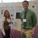K. McMillan and Z. Signora presenting White Ash Study Poster at St. Joseph's University by Gerard Hertel